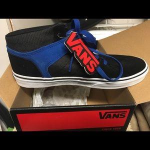 Brand new Vans black/blue suede/textile Ellis mid